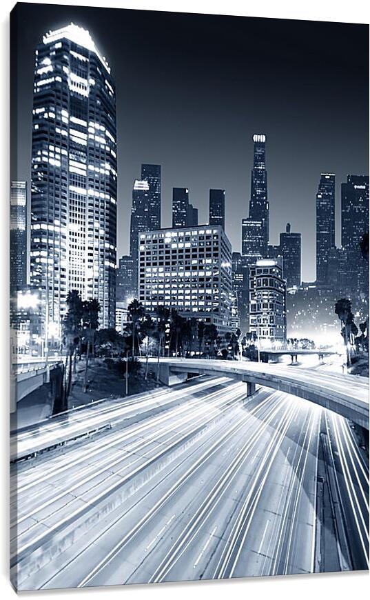 Ночной городГорода<br>Модульная картина из 3 частей . Любые размеры и конфигурации на выбор. Материал печати: натуральный холст.<br>Размер: 60x90 см., 80x120 см., 100x150 см.;
