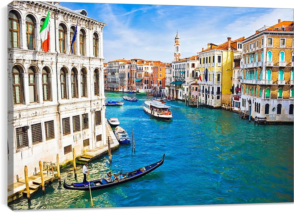 Канал в ВенецииГорода<br>Модульная картина из 5 частей . Любые размеры и конфигурации на выбор. Материал печати: натуральный холст.<br>Размер: 90x60 см., 120x80 см., 150x100 см.;