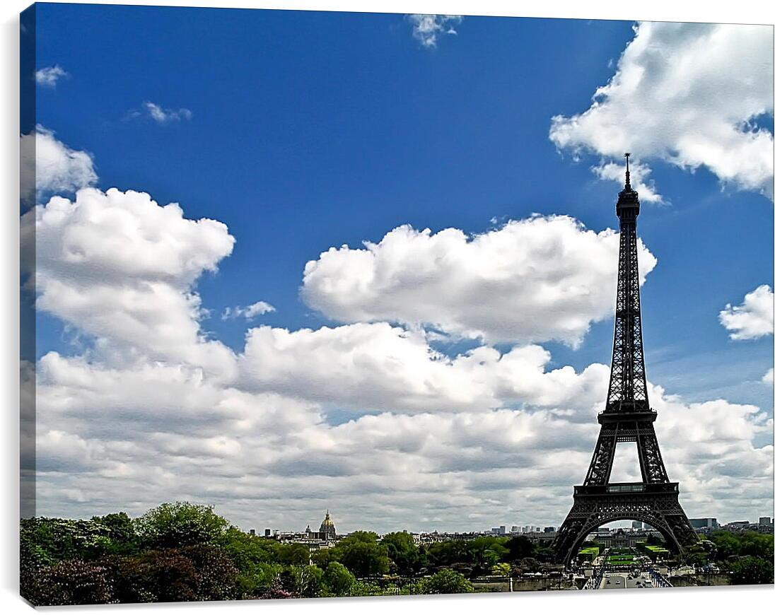 Эйфелева башняГорода<br>Модульная картина из 3 частей . Любые размеры и конфигурации на выбор. Материал печати: натуральный холст.<br>Размер: 90x66 см., 120x88 см., 150x110 см.;