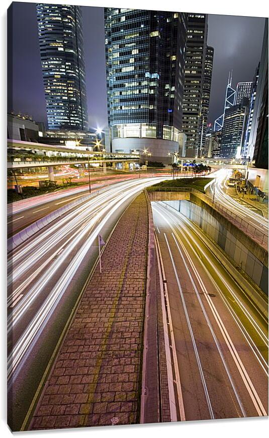 Городская трассаГорода<br>Модульная картина из 5 частей . Любые размеры и конфигурации на выбор. Материал печати: натуральный холст.<br>Размер: 60x90 см., 80x120 см., 100x150 см.;