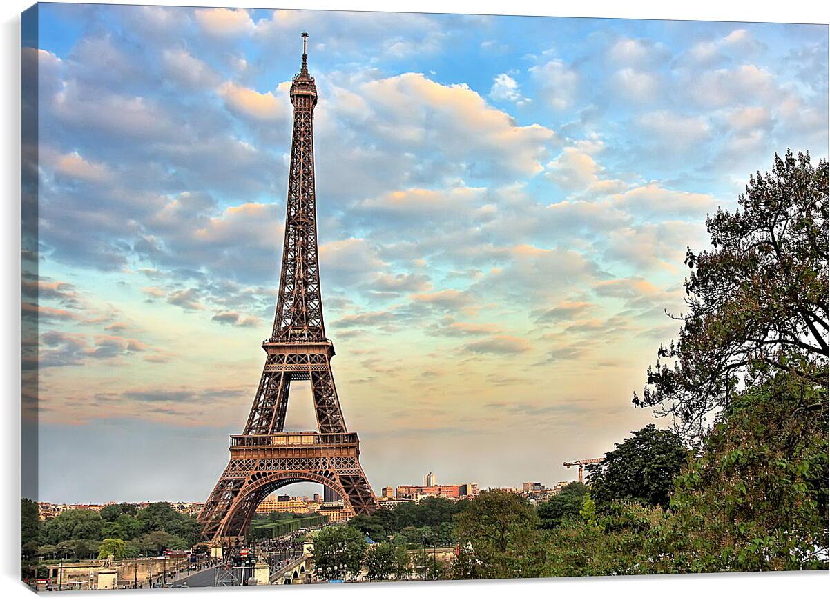 Эйфелева башняГорода<br>Модульная картина из 2 частей . Любые размеры и конфигурации на выбор. Материал печати: натуральный холст.<br>Размер: 90x60 см., 120x80 см., 150x100 см.;