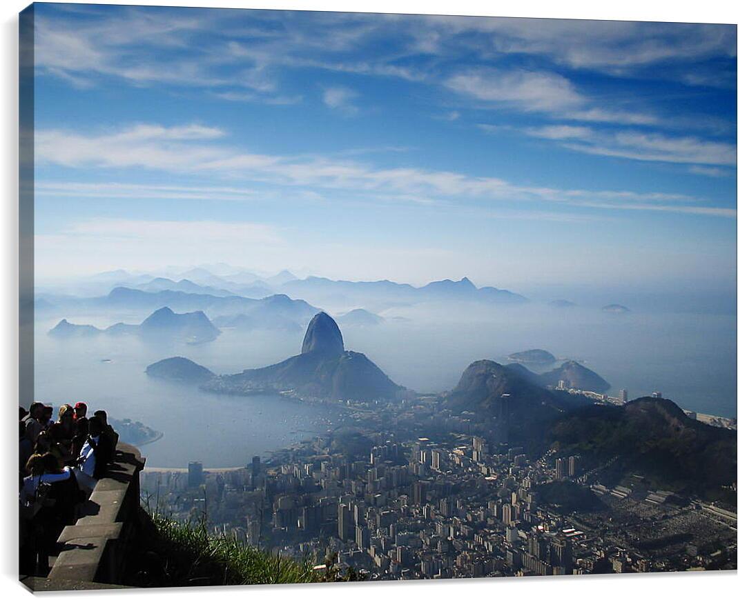 Туман над Рио-де-ЖанейроГорода<br>Модульная картина из 4 частей . Любые размеры и конфигурации на выбор. Материал печати: натуральный холст.<br>Размер: 90x67 см., 120x90 см., 150x112 см.;