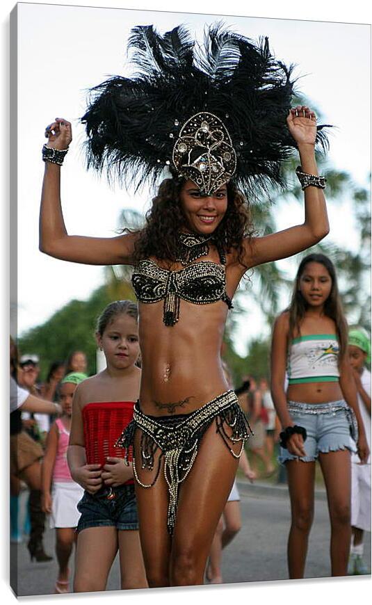 Танцовщица карнавалаГорода<br>Модульная картина из 2 частей . Любые размеры и конфигурации на выбор. Материал печати: натуральный холст.<br>Размер: 60x90 см., 80x120 см., 100x150 см.;