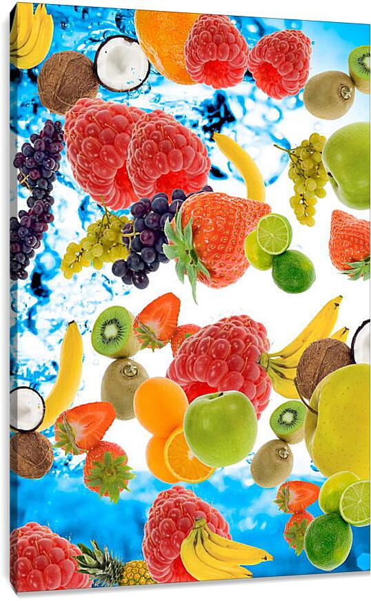Ягоды и фруктыКухня<br>Модульная картина из 2 частей . Любые размеры и конфигурации на выбор. Материал печати: натуральный холст.<br>Размер: 60x90 см., 80x120 см., 100x150 см.;