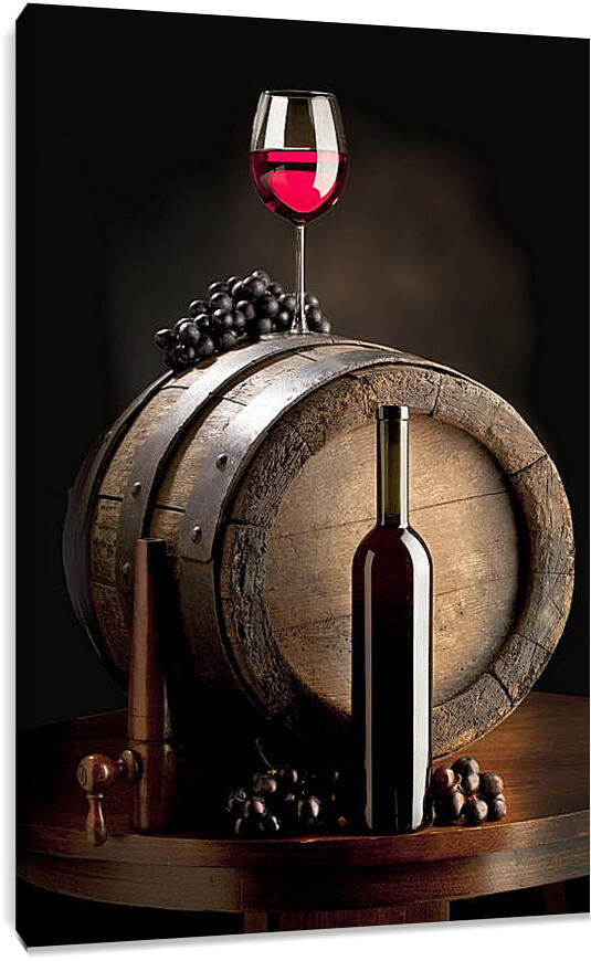 Бутылка красного винаКухня<br>Модульная картина из 3 частей . Любые размеры и конфигурации на выбор. Материал печати: натуральный холст.<br>Размер: 60x90 см., 80x120 см., 100x150 см.;