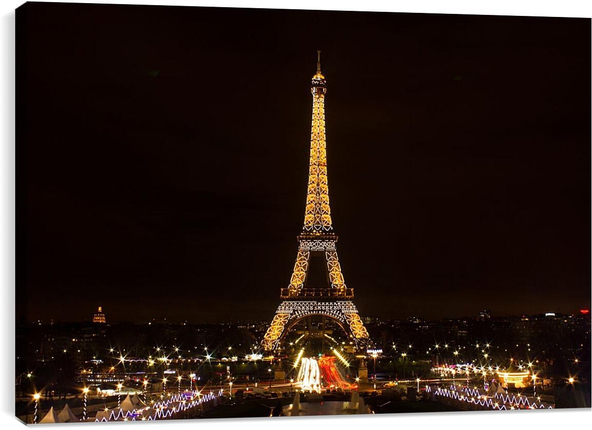Эйфелева башня. ПарижСтраны<br>Модульная картина из 4 частей . Любые размеры и конфигурации на выбор. Материал печати: натуральный холст.<br>Размер: 90x60 см., 120x80 см., 150x100 см.;