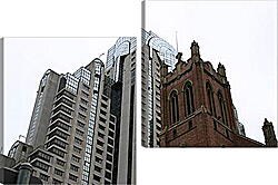 Модульная картина - Architecture New and Old