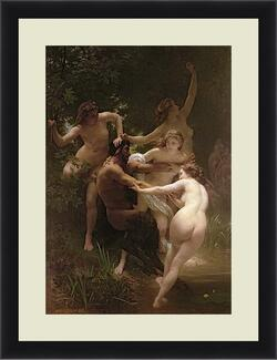 Картина в раме - Nymphs and Satyr - Нимфы и Сатир. Адольф Вильям Бугро